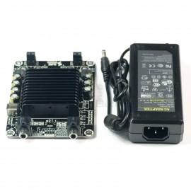 2 X 25 Watt Class D Audio Amplifier Combo Kit (for Gaming Kiosks) w MW 15V 100W Power Supply