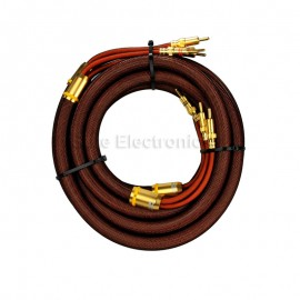 Choseal OCC Banana Plug high quality HIFI Speaker stereo Cable Pair 5m 16ft