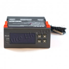 WH7016E 12V Digital Temperature Temp Controller Thermostat+ Sensor  -9.9℃~99.9℃