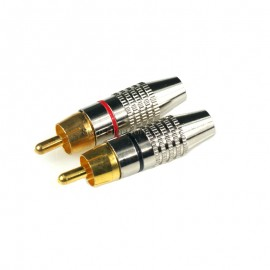 10pcs Gold Plated RCA Plug Audio Video Locking Cable Connector