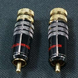Solder Type Locking RCA Plug 4 Pcs audio cable connector