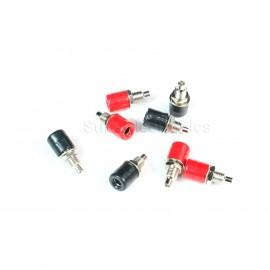 6pcs 4mm banana plug socket long panel copper terminal block Audio sockets