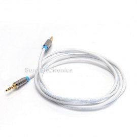 1m/1.5m VenTion HIFI Gold Plated 3.5mm AUX Audio Cable Black White