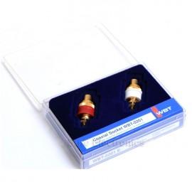 2pcs WBT-0201 HiFi Gold Plated Nextgen Copper RCA Socket