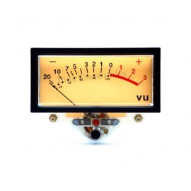 NISSEI TN-73 ROSH Panel VU Meter 0.8VAC 76x59x41mm with Backlight