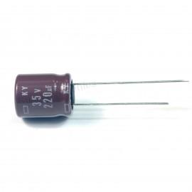 20pcs NCC Nippon CHEMI-CON DIP Aluminum Electrolytic Capacitors 220uF/35V Φ10x12.5mm caps