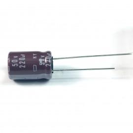 20pcs NCC Nippon CHEMI-CON DIP Aluminum Electrolytic Capacitors 220uF/50V Φ10x16mm caps