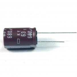 10pcs NCC Nippon CHEMI-CON DIP Aluminum Electrolytic Capacitors 680uF/63V Φ16x25mm caps