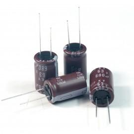 50pcs NCC Nippon CHEMI-CON DIP Aluminum Electrolytic Capacitors 680uF/63V Φ16x25mm caps
