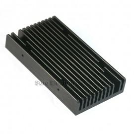 4.3x2.3inch Aluminum Alloy Heat Sink for 1W/3W/5W/10W LED Black