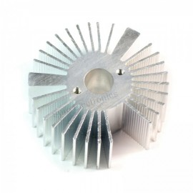 53x21mm Round Sunflower Aluminum Alloy Heat Sink for 1W-5W LED Silver White
