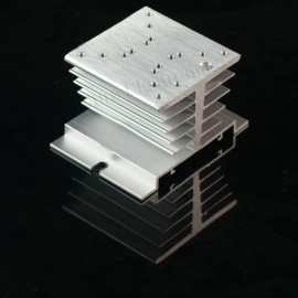 2.4x2.4inch Aluminum Alloy Heat Sink for 1W/3W/5W/10W LED Silver White