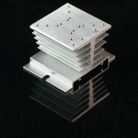 10pcs 2.4x2.4inch Aluminum Alloy Heat Sink for 1W/3W/5W/10W LED Silver White