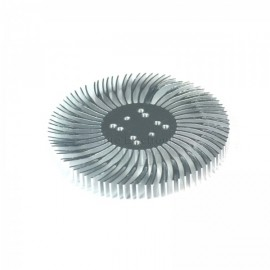 90x10mm Round Spiral Aluminum Alloy Heat Sink for 1W-10W LED Silver White