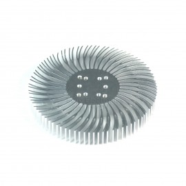 5pcs 3.5x0.5inch Round Spiral Aluminum Alloy Heat Sink for 1W-10W LED Silver White