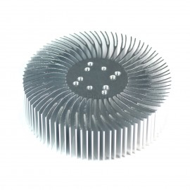 2pcs 3.5x1inch Round Spiral Aluminum Alloy Heat Sink for 1W-10W LED Silver White