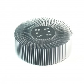 2pcs 3.5x1.2inch Round Spiral Aluminum Alloy Heat Sink for 1W-10W LED Silver White