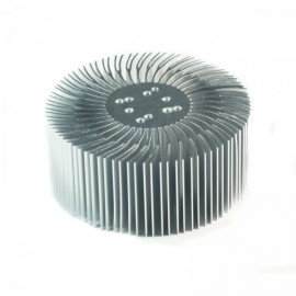 90x38mm Round Spiral Aluminum Alloy Heat Sink for 1W-10W LED Silver White