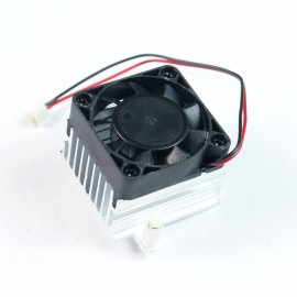 1.6x1.6inch 12V DC Sleeve Bearing Fan w 1.6x1.6inch HeatSink for Audio Amplifier