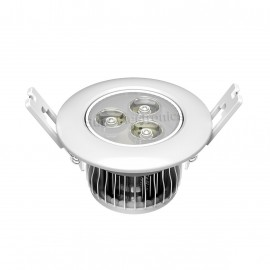 Ceiling light w heatsink and aluminum plate 3 LED panel 3W 9V 300mA Φ87*51mm