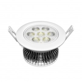 Ceiling light w heatsink and aluminum plate 7 LED panel 7W Φ108*62mm 870CM²
