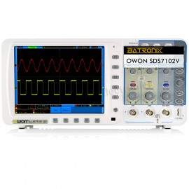 "OWON SDS7102V 100Mhz Oscilloscope 1G/s large 8""LED LAN VGA free firmware upgrade"