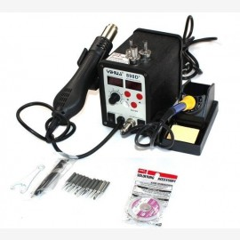 YH898D Hot Air Station + 2in1 Rework Soldering Station ESDBGA 110V Free Tips