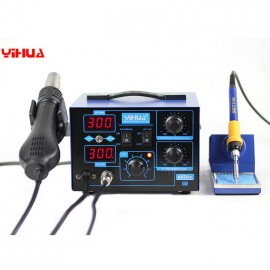 YIHUA 862D+ 110V 2in1 Soldering Rework Station Iron Soldering Gun Station