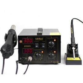 YIHUA852D+ 110V Stazione Saldante SMD 2in1 Rework Station diaphragm pump version