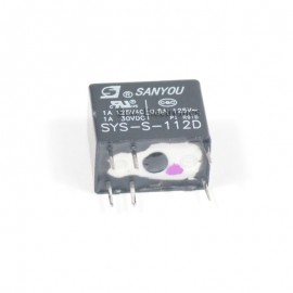 SANYOU SYS-S-112D 1A 125VAC, 12VDC Coil Singal Relay