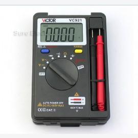 VICTOR Mini VC921 Multimeter Pocket Digital Multimeter DMM Integrated Frequency