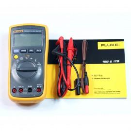 FLUKE 17B+ Digital Multimeter w/ Free Case Test Leads TL75