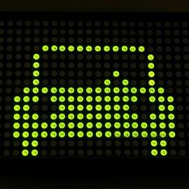 P7.62 24X16 Green LED Dot Matrix Unit Board LED