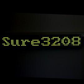 32X08 3208 Green LED 5mm Dot Matrix Display Information Board HT1632C