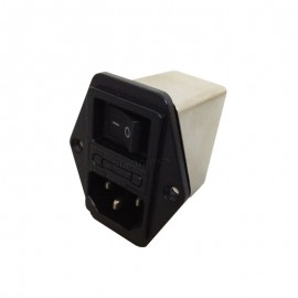 SQ170-1A IEC Male Power Socket w Fuse Holder w Switch Power Filter 1A 250VAC