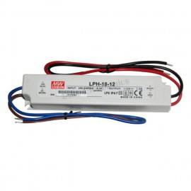 MW Mean Well LPH-18-12 LED Driver 18W 12V IP67 Power Supply Water & Dust-proof