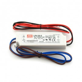 MW Mean Well LPV-20-5 LED Driver 15W 5V IP67 Power Supply Waterproof