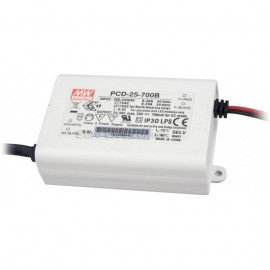 Mean Well PCD-25-700B 25W 700mA Power Supply LED Driver Water & Dust-proof