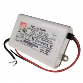 Mean Well PCD-16-350B 16W 350mA Power Supply LED Driver Water & Dust-proof