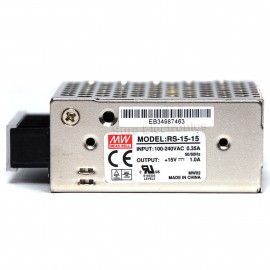 Mean Well RS-15-15 AC/DC Single Output Switching Power Supply 15V 1A 15W
