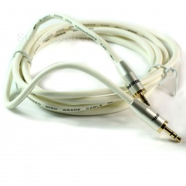 Choseal 3.5mm Male to Male Audio Cable For iPod MP3 PC white
