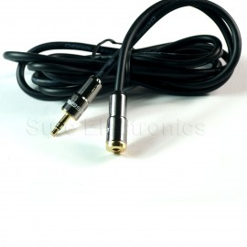 Choseal Gold Plated 3.5mm Male Plug to 3.5 female jack black