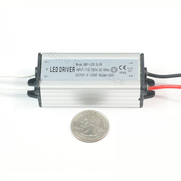 5pcs 10W High Power LED Driver 900mA AC110V-262V 50-60HZ Waterproof