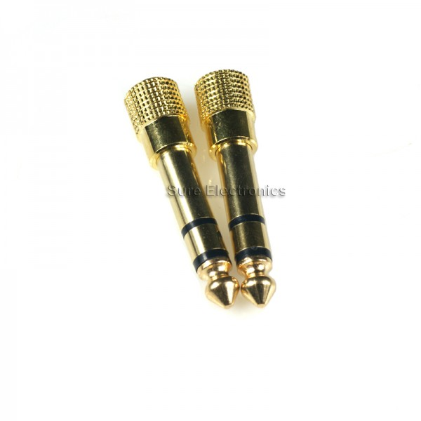 3.5mm Jack to 6.3mm Gold Plated Stereo audio Plug Adapter 10 Pcs 1//8 1//4 inch