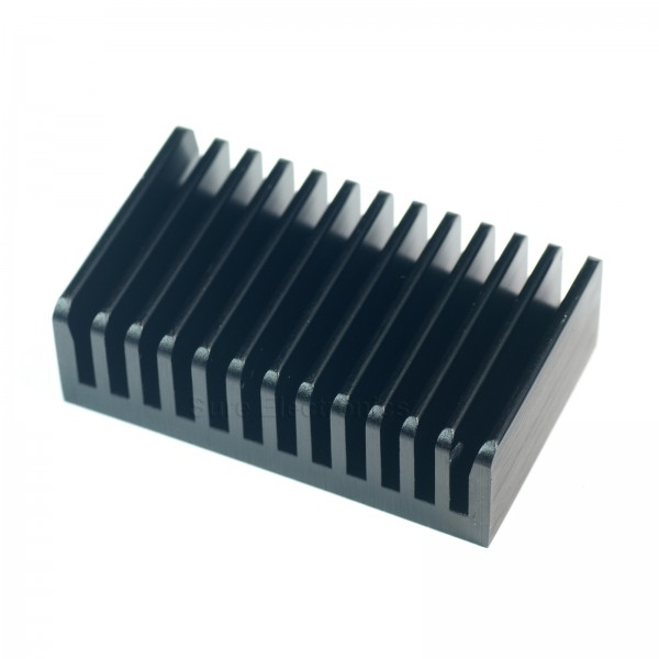 2.3x1.4inch Aluminum Alloy Heat Sink for TO-220 Package Audio Amplifier Black