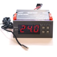 WH7016J 12V Digital Temperature Temp Controller Thermostat + Sensor -30℃~300℃