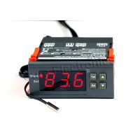 WH7016G 12V Digital Temperature Temp Controller Thermostat + Sensor -58℉~230℉