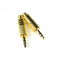 3.5mm Gold Plated Stereo Male Plug 10 Pcs 1/8 inch audio wire connector