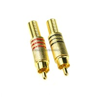 Gold Plated RCA Plug w Strain Relief 10 Pcs audio cable connector