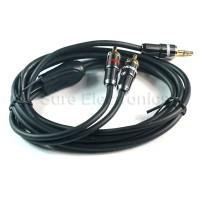 Choseal audiophile hifi Gold Plated 3.5mm Male to 2 RCA bold black